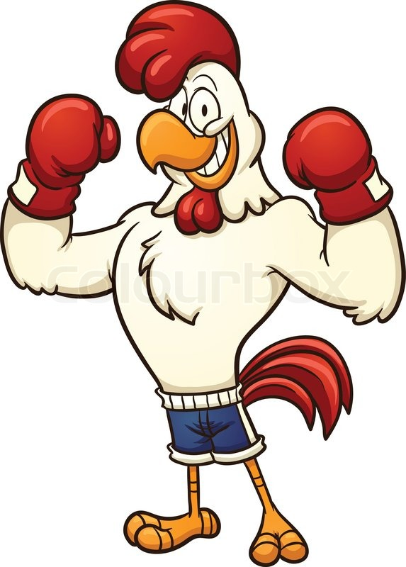 Angry chicken pencil and. Chick clipart vector