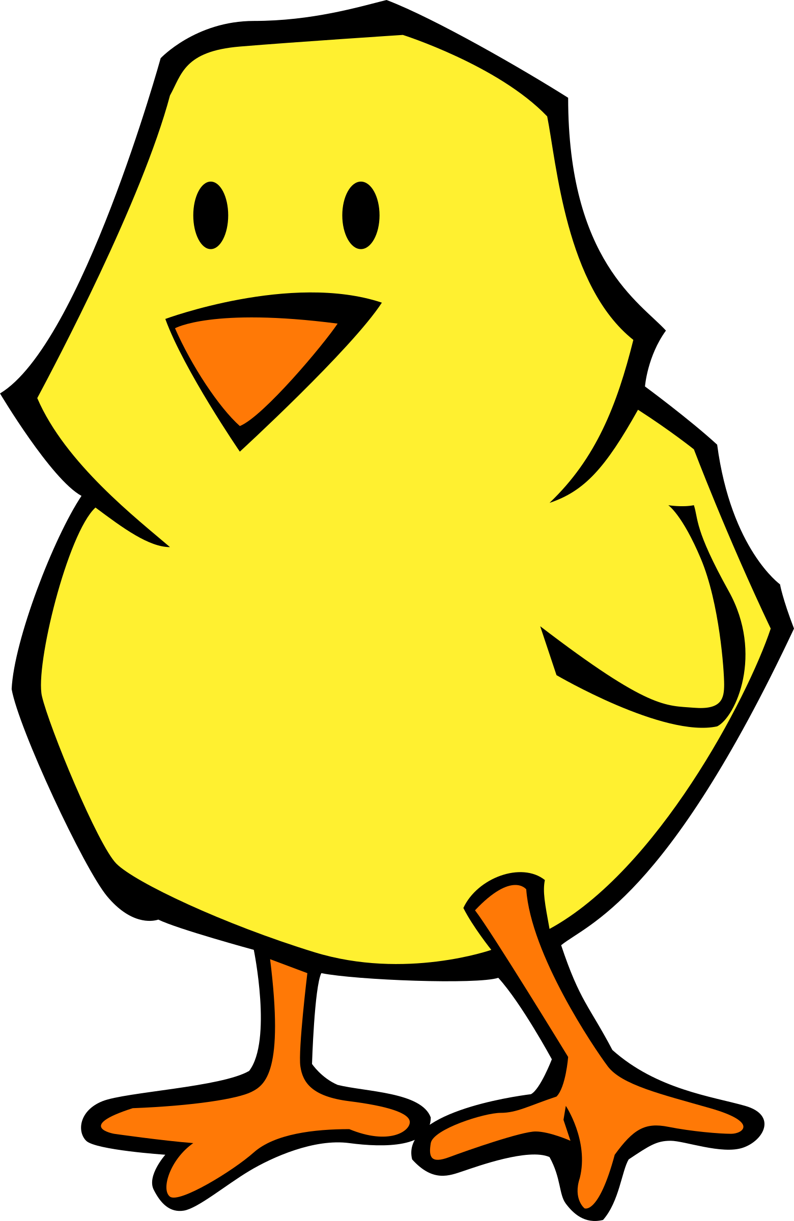 Wet clipart chick. Flat colors icons png