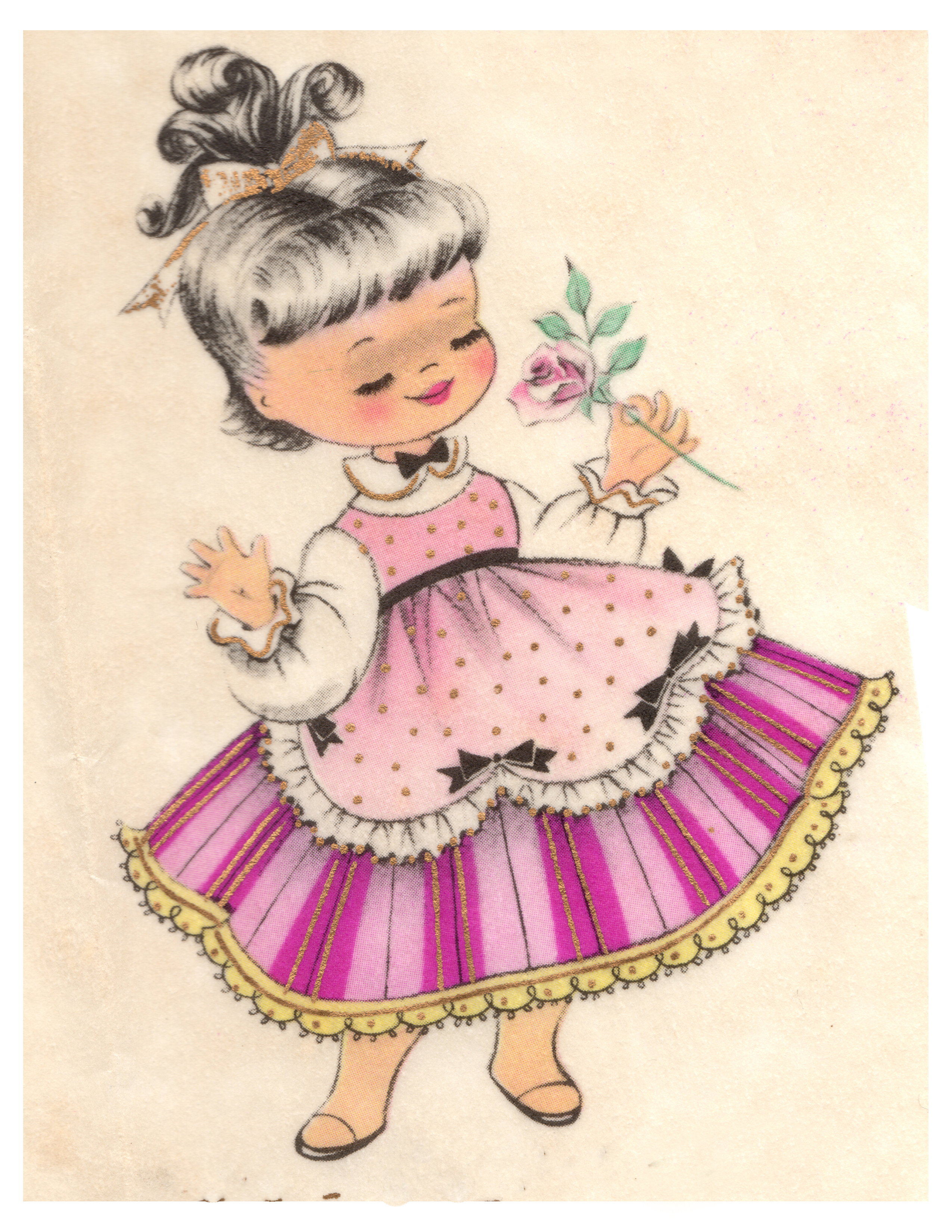 Images pretty girl free. Chick clipart vintage