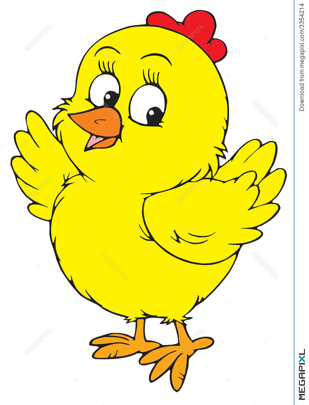 Chick clipart yellow chick. Vector clip art illustration