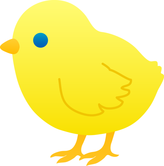 . Chick clipart yellow chick