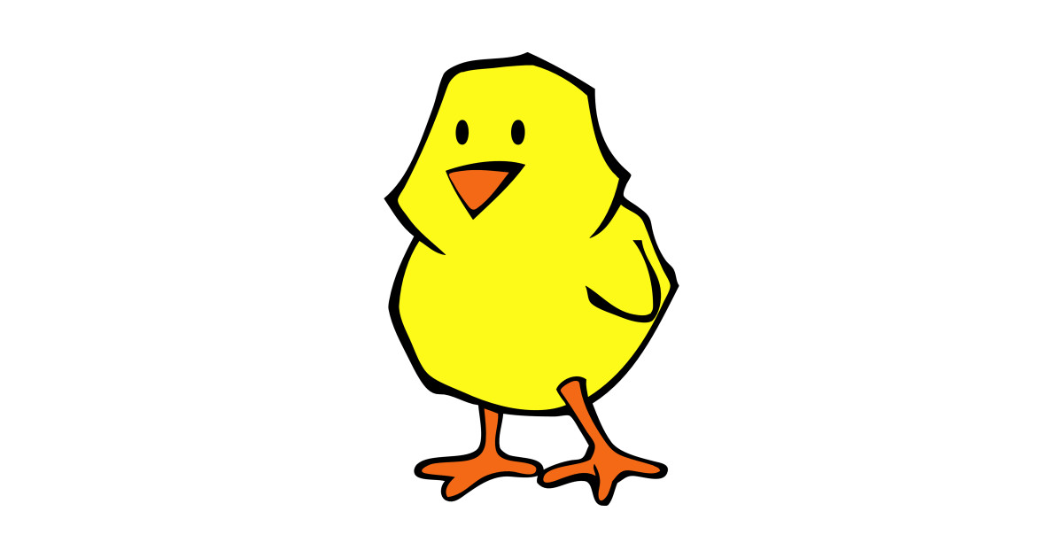 Chick clipart yellow chick. Baby chicken drawing by
