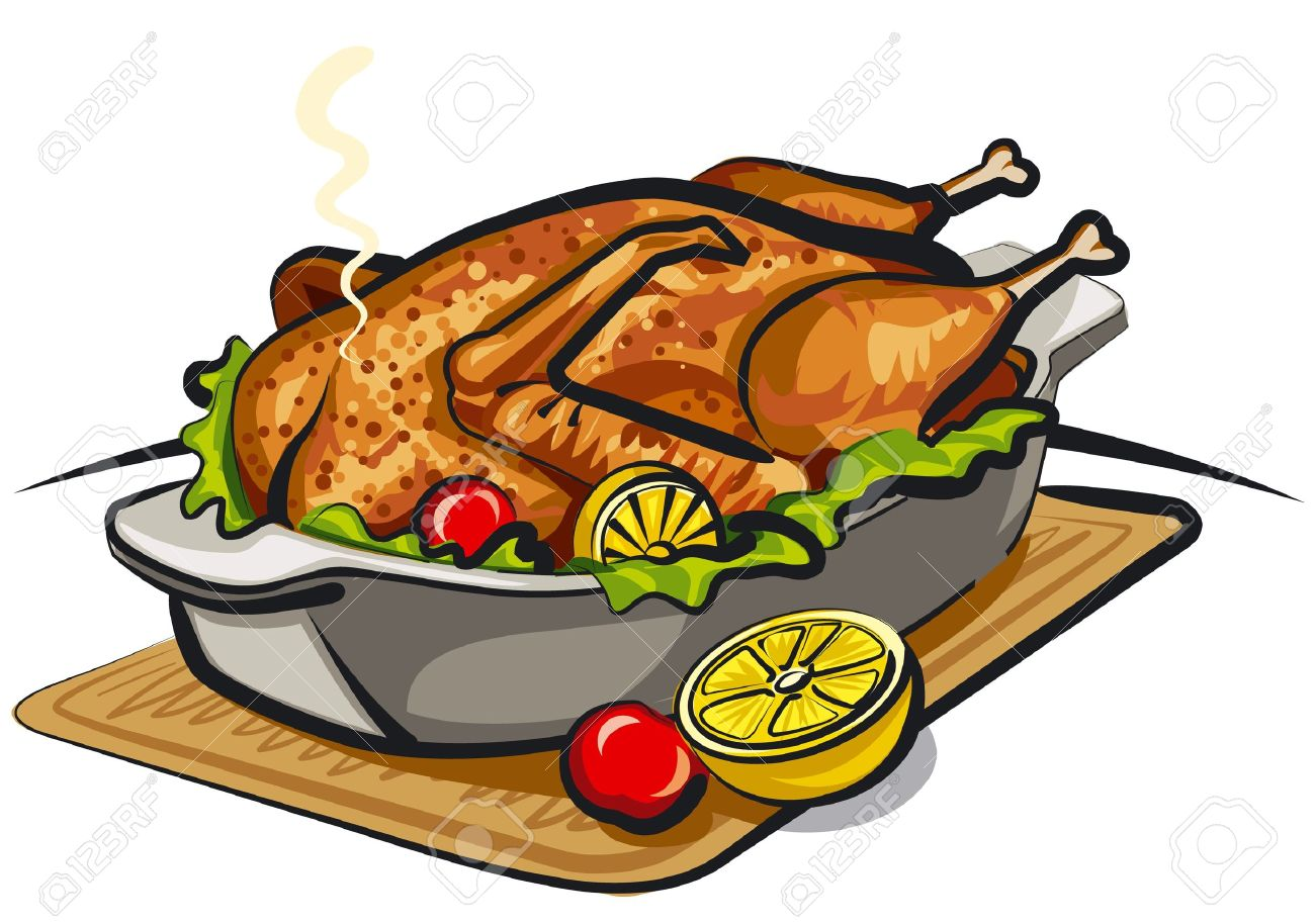 collection of chicken. Diner clipart main dish