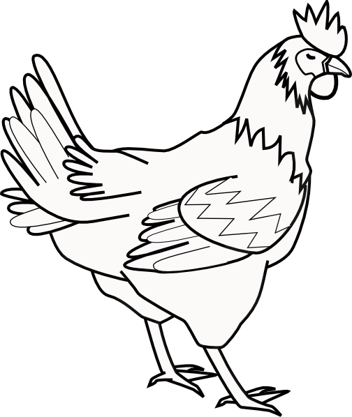 Roasted chicken drawing at. Chick clipart simple