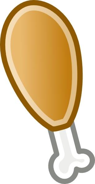 Chicken leg clip art. Chick clipart vector