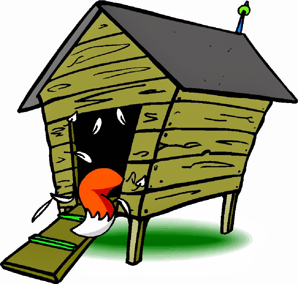 Free chicken house cliparts. Chickens clipart fox