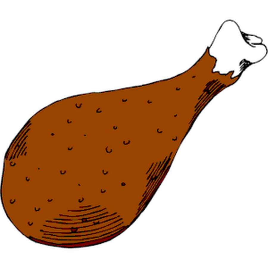 Meat clipart chicken drumstick. Fried leg the cliparts