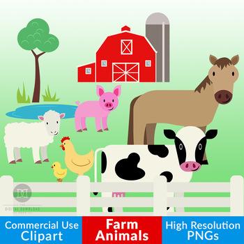 Cows clipart pig. Farm animal cow horse