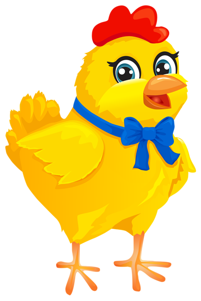 With bow transparent png. Chicken clipart easter