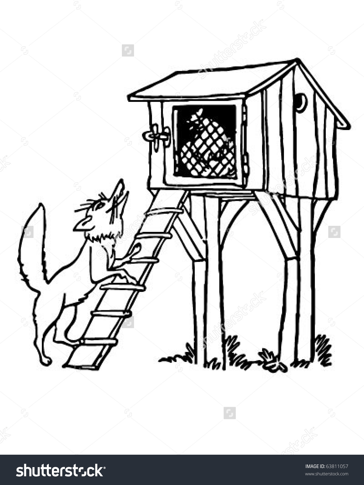 Chicken clipart fox.  coop clipartlook