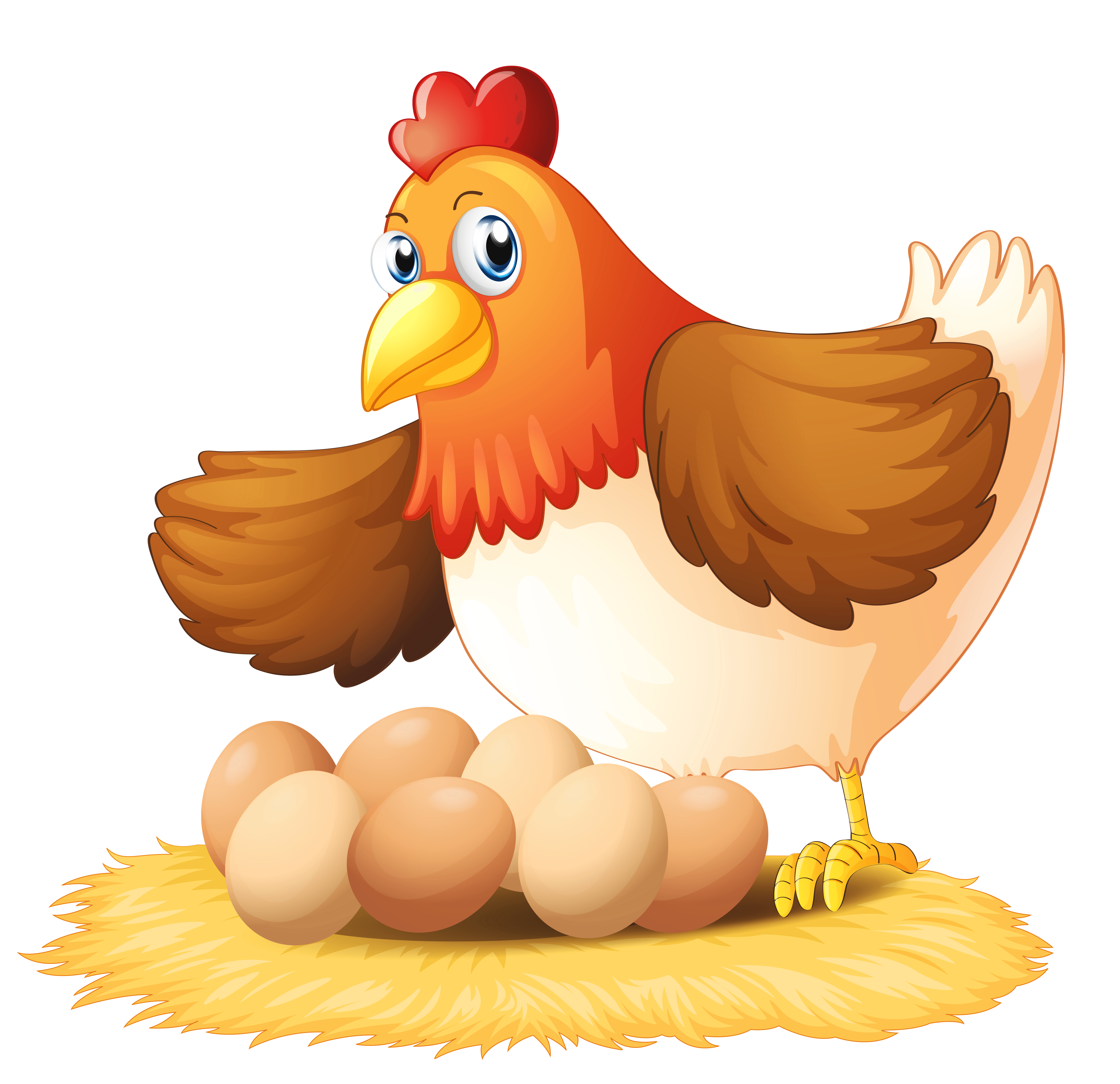 Hen with png gallery. Eggs clipart