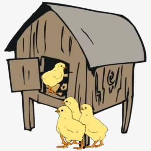Free hen cliparts silhouettes. Hut clipart poultry house