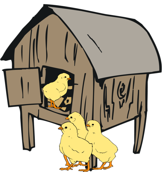 collection of house. Hen clipart clip art