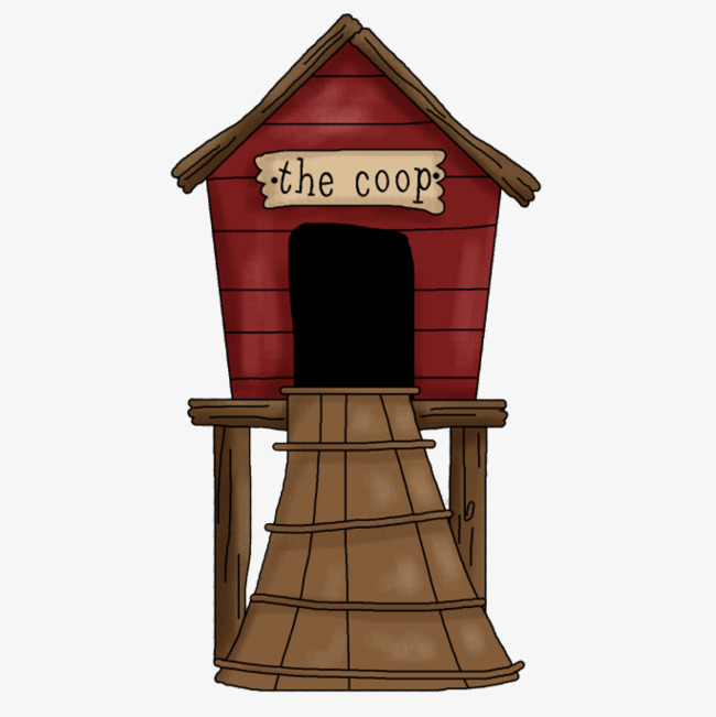 Chickens clipart hen house. Cartoon chicken coop egg
