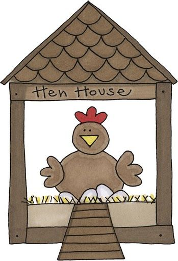 Hen clipart hut. House clip art farm