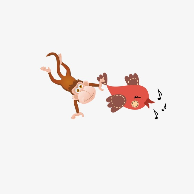 Cartoon png image and. Chicken clipart monkey