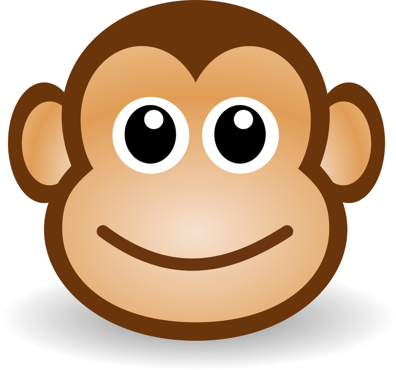 Monkey clipart sunglasses. Funny face medium image