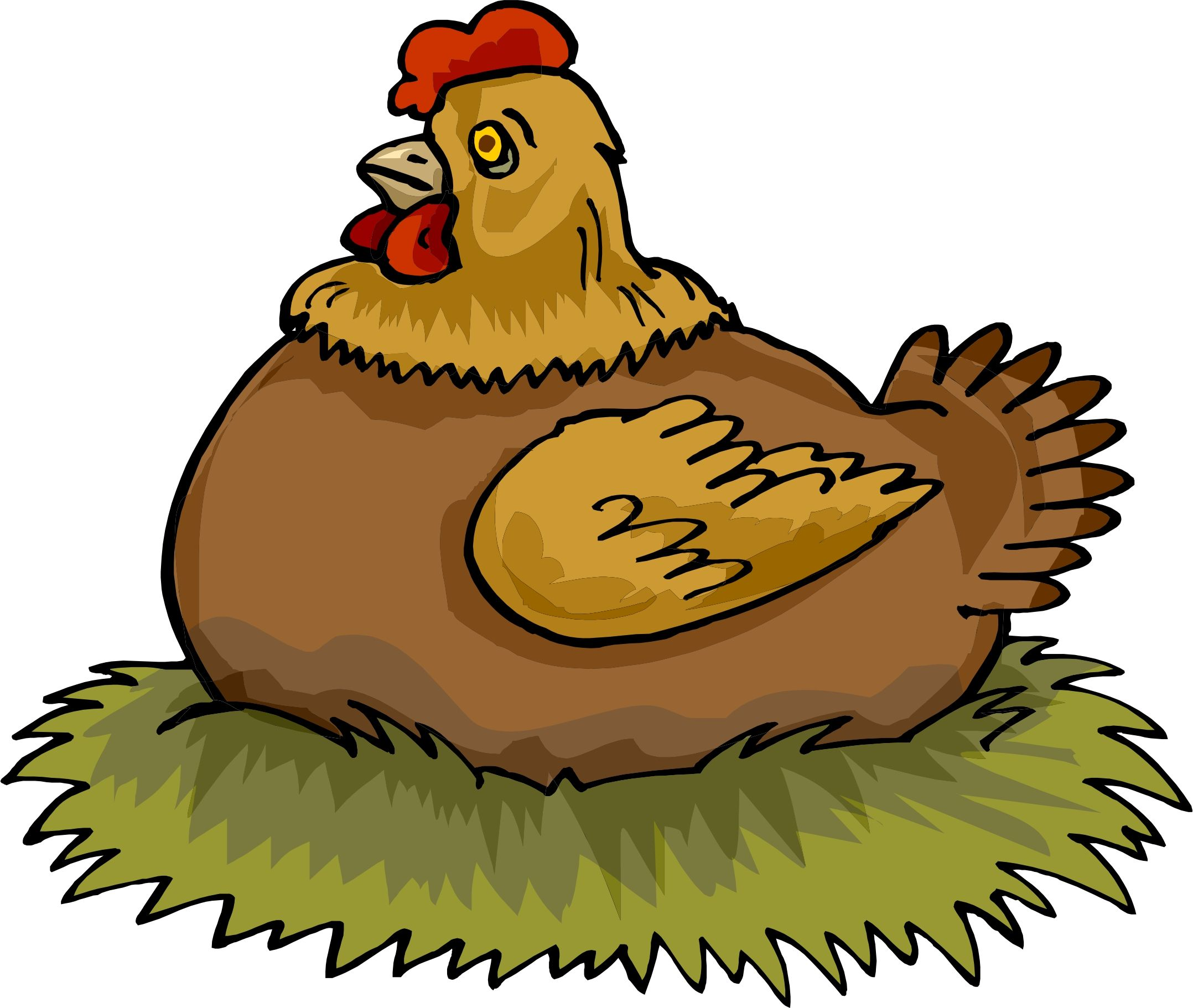 Hen on preschool pinterest. Nest clipart chicken