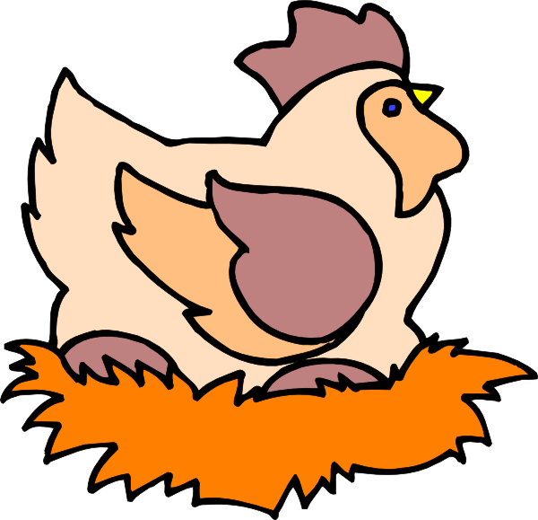 Chicken In Nest Clip Art at Clker