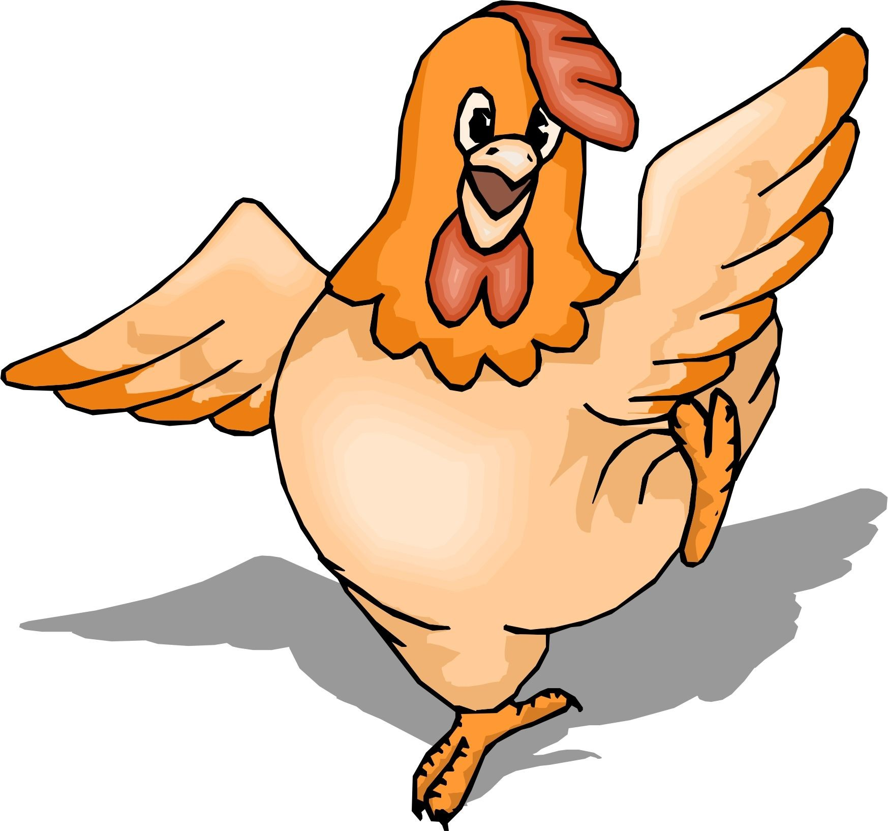 Coloring pages of a. Chicken clipart orange chicken