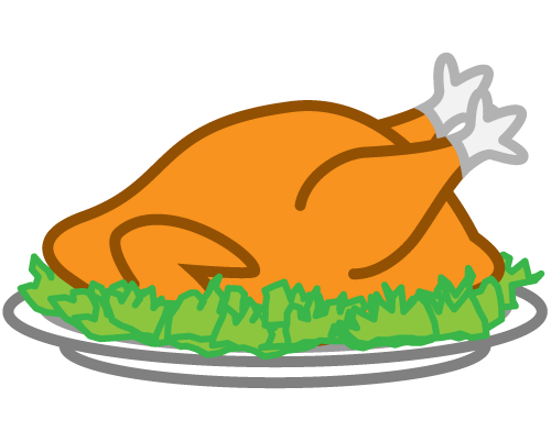 Roasted panda free images. Feast clipart baked chicken
