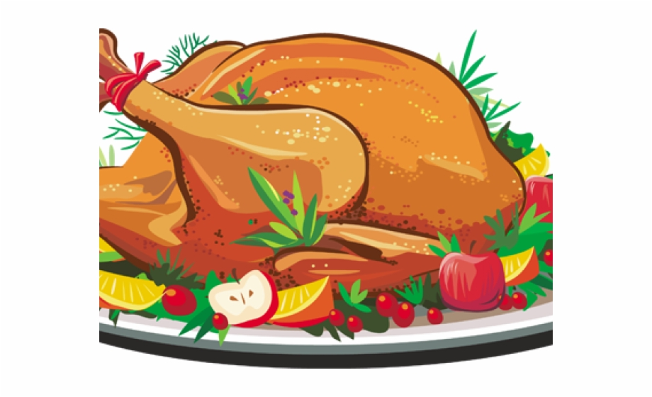 Thanksgiving turkey dinner . Chicken clipart roasted chicken