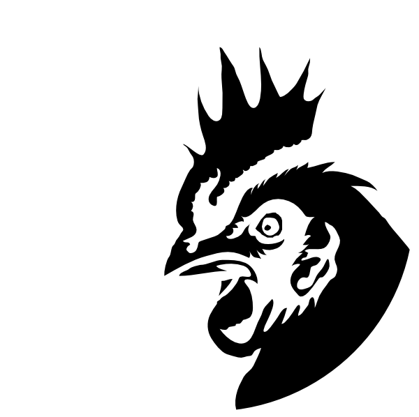 Hen clipart cartoon. Chicken profile black silhouette