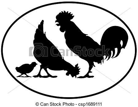 Chicken silhouette clip art. Chickens clipart vector