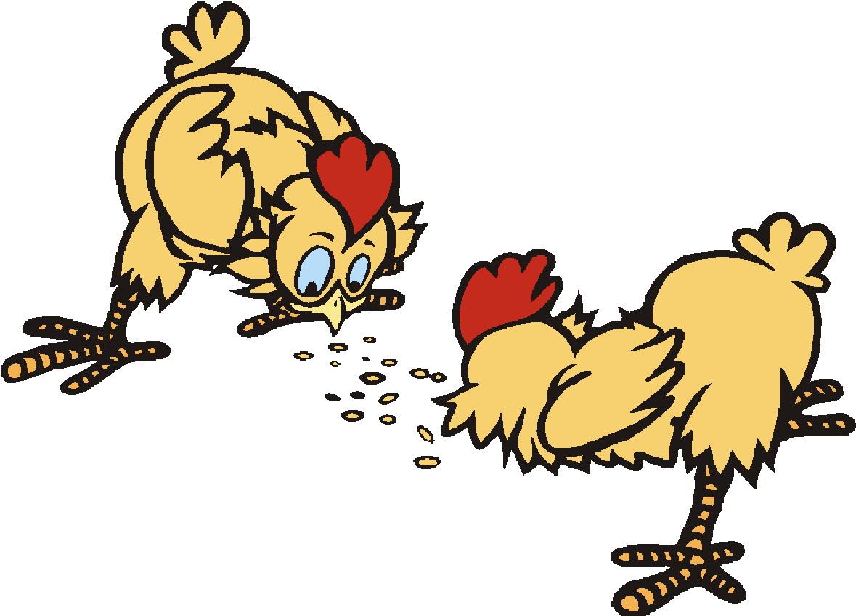 Chickens clip art farm. Hen clipart eating