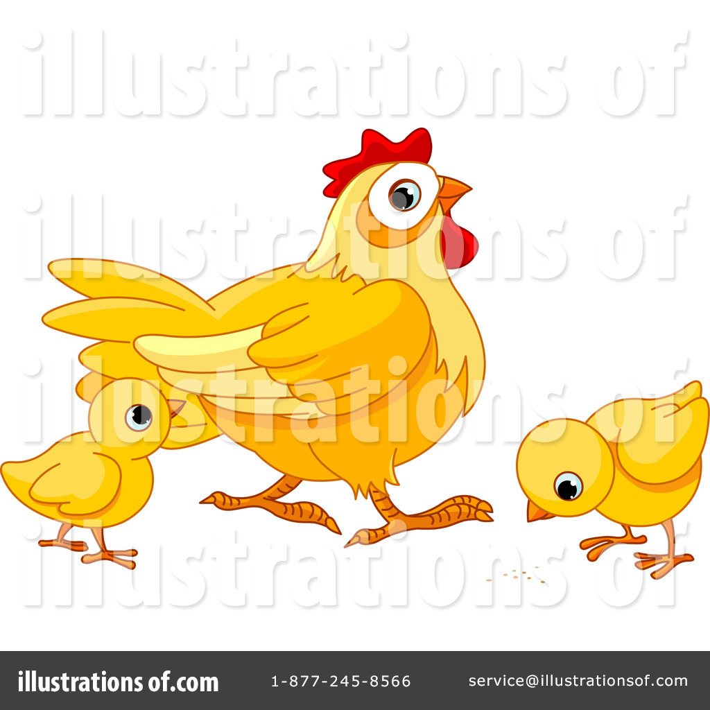 Chickens clipart animal. Illustration by pushkin royaltyfree