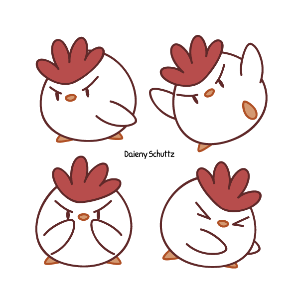 Chicken by daieny on. Hen clipart angry