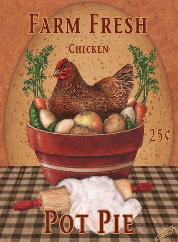 Chickens clipart chicken dish. Pot pie gloria west
