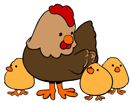 Chickens clipart fox. Animated chicken gclipart com