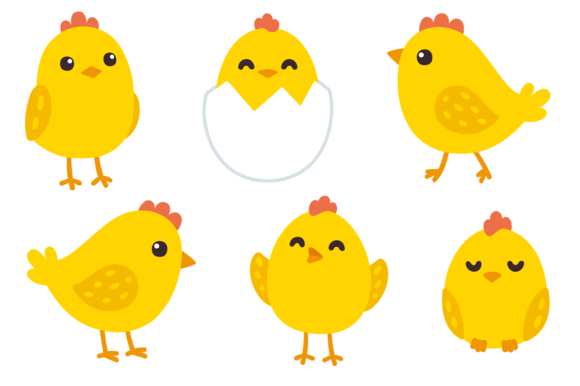Cute baby set creativework. Chickens clipart grilled chicken