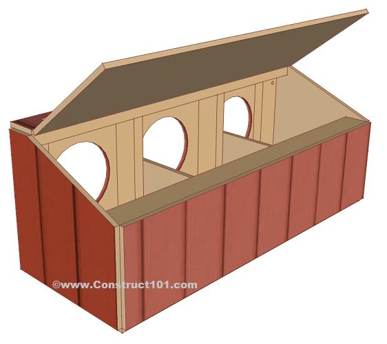 Chicken coop nest box. Chickens clipart hen house