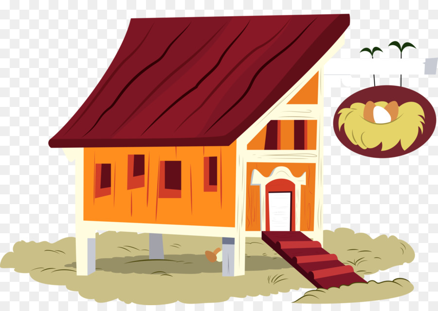 Chicken coop building clip. Hut clipart poultry house