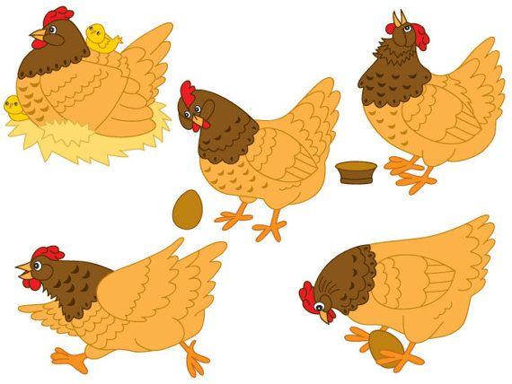 Chickens clipart joy. Chicken digital vector farm