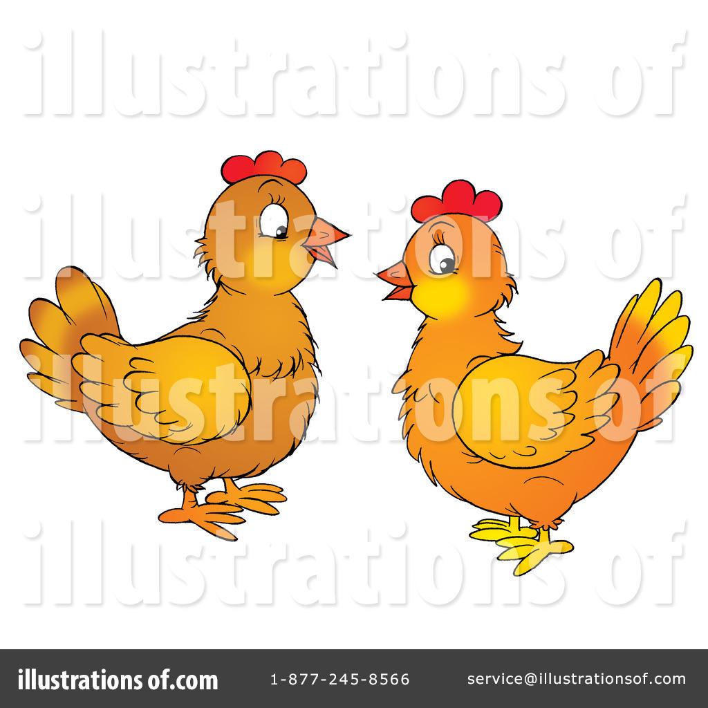 Illustration by alex bannykh. Chickens clipart orange chicken