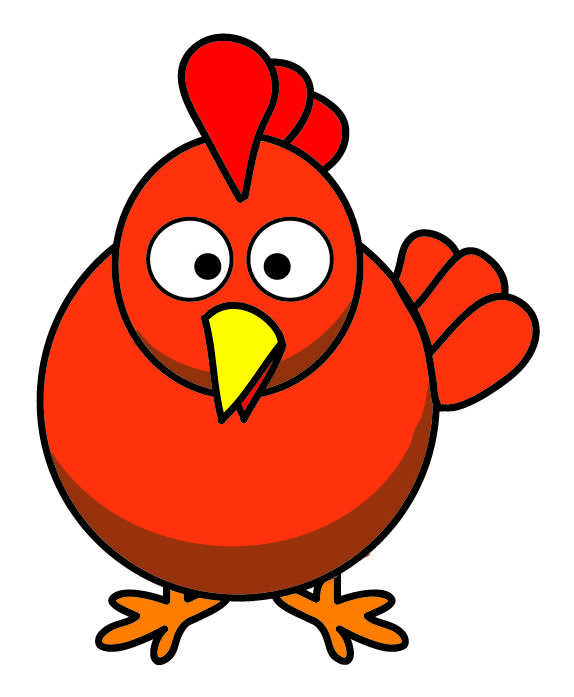 Chickens clipart orange chicken. May peck their way