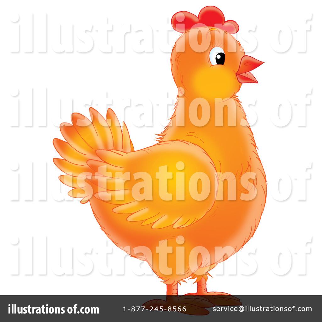 Chickens clipart orange chicken. Illustration by alex bannykh