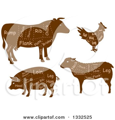 Chickens clipart pig. Of a brown silhouetted