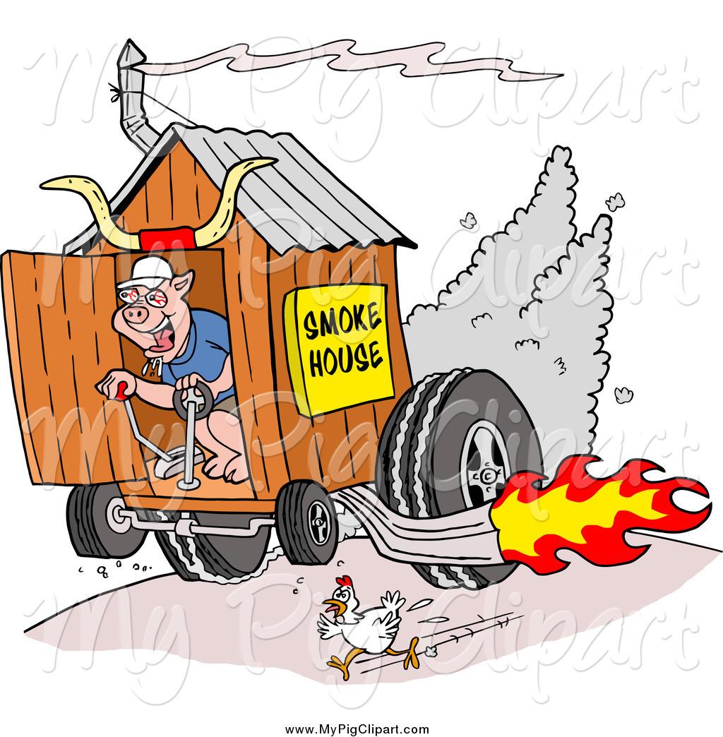 Chickens clipart pig. Swine of a chicken