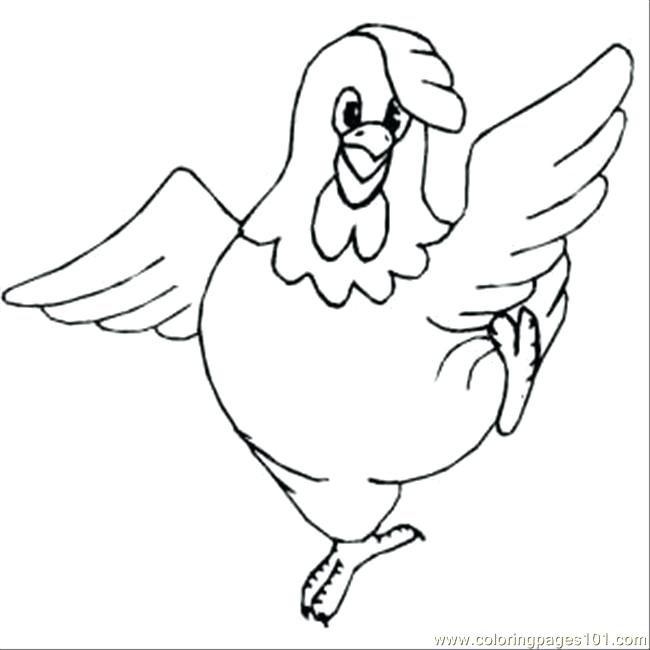 Free plump chicken coloring. Chickens clipart printable