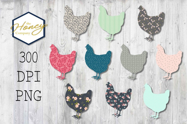 Chickens clipart printable. Floral chicken png dpi