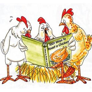 Chickens clipart roasted chicken.  reading book ways