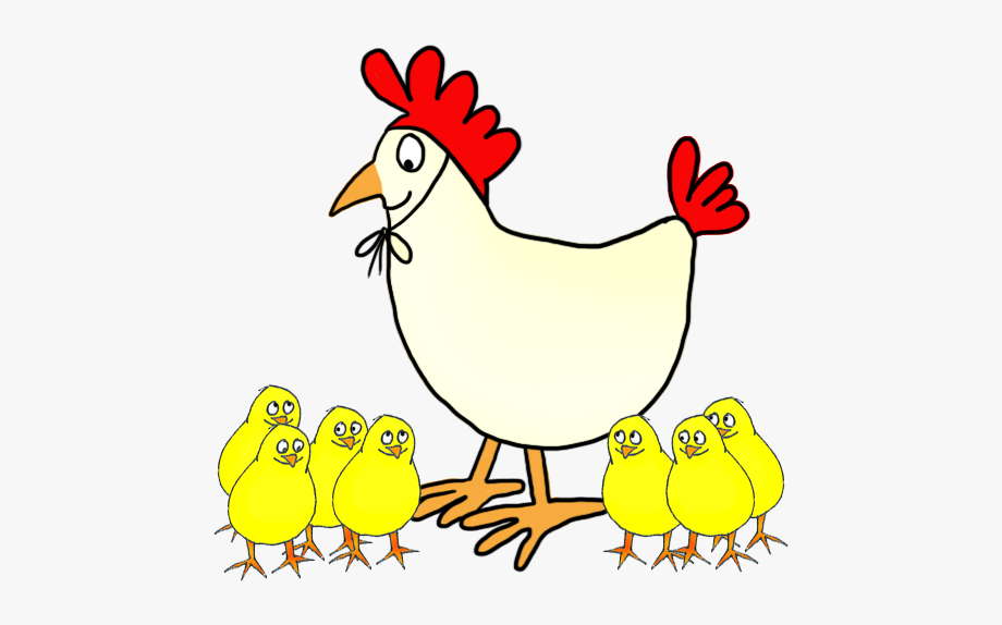 Hen with chicken . Chickens clipart transparent background