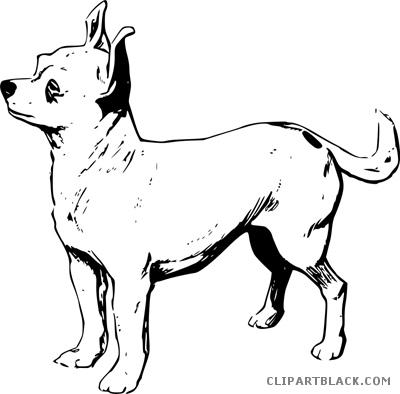 Chihuahua clipart black and white. Dog clipartblack com animal