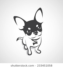 Chihuahua clipart black and white. Station