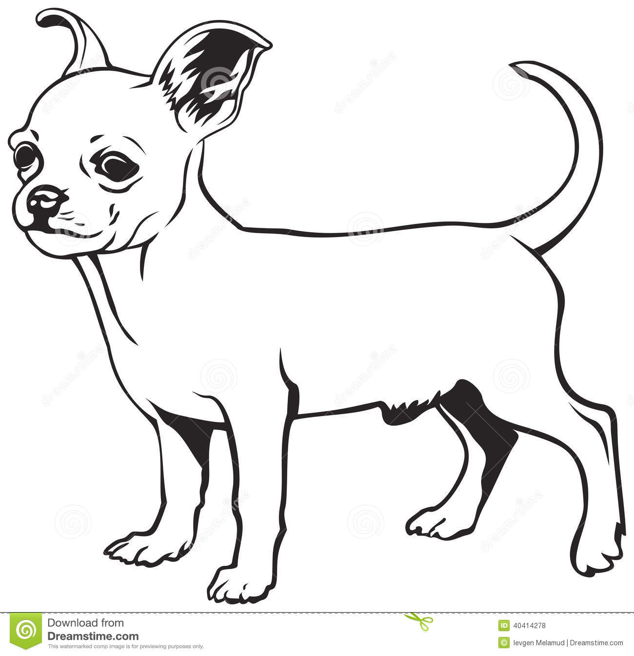 chihuahua clipart black and white chihuahua black and