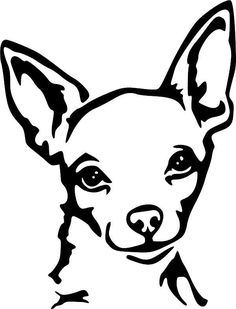 Station . Chihuahua clipart black and white
